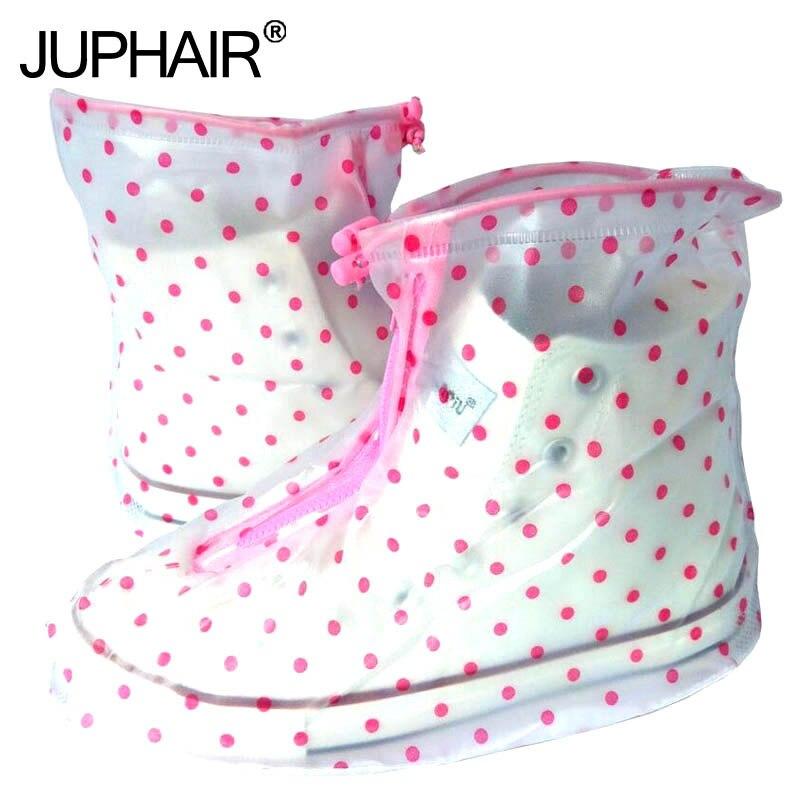 JUP Reusable Waterproof Overshoes Shoe Covers Shoe Protector Men Women Rain Cover Shoes Accessories PVC Waterproof Shoes Cover