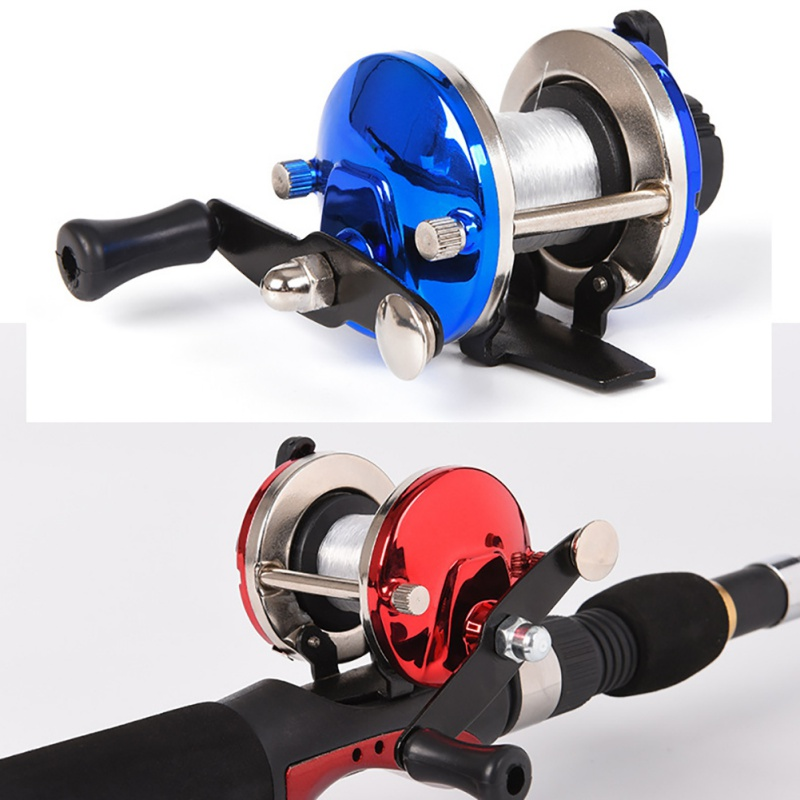 Mini Metal Bait Casting Spinning Boat Ice Fishing Reel Fish Water Wheel Bait Cast Roller Coil 50M Wire