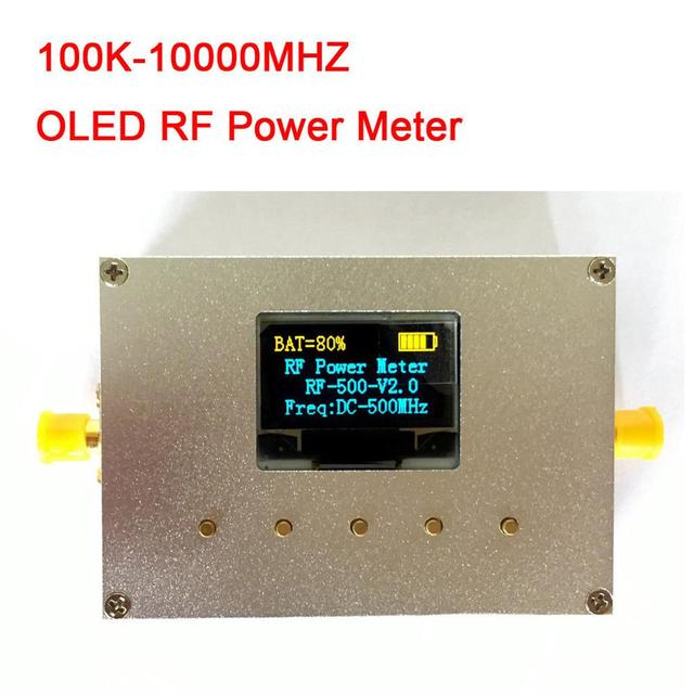 100 KHZ 10000 MHZ OLED RF Power Meter+ Sofware RF Attenuation Value