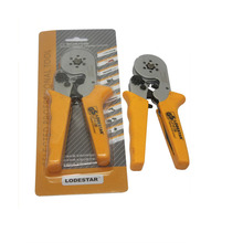 цены Strength-Saving Mini-Type Crimping Pliers Tool For Insulated Type Quadrilateral/Hexagon Crimping Plier DIY L214136
