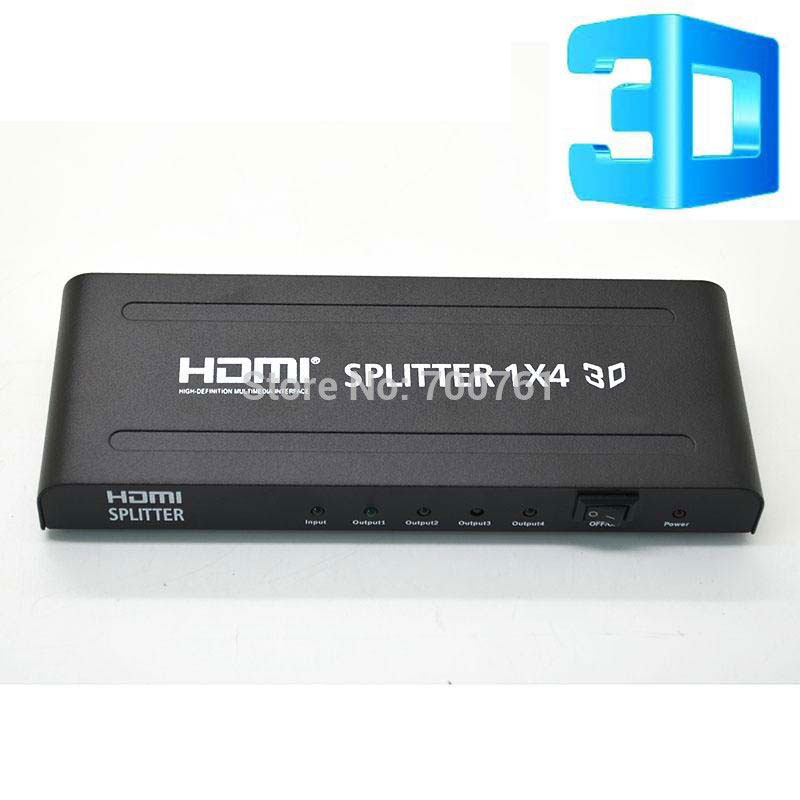 4 port HDMI 1.4 splitter 1x4 video audio switch switcher converter adapter support 3D 4K*2K free shipping free shipping techone yak54 1100mm epp 3d kit version not include any electronic parts