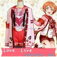 LoveLive! Любовь Онлайн Hoshizora Rin День Святого Валентина свитер пальто и пиджаки Топы Шорты равномерное наряд косплей костюмы