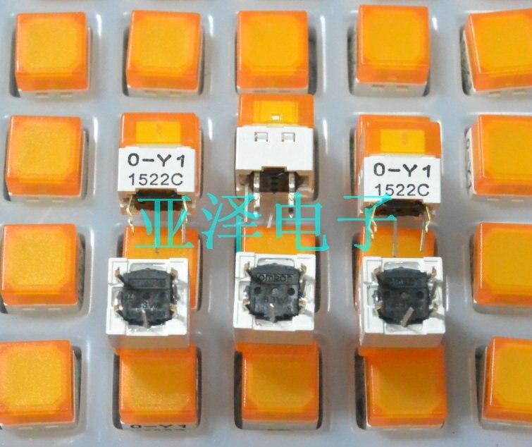 20PCS/LOT Spot , B3W-9000-Y1Y lighting, 10*10 light switch, LED orange light браслет с брелоками lekani 10 20pcs lot lknsbb029 034