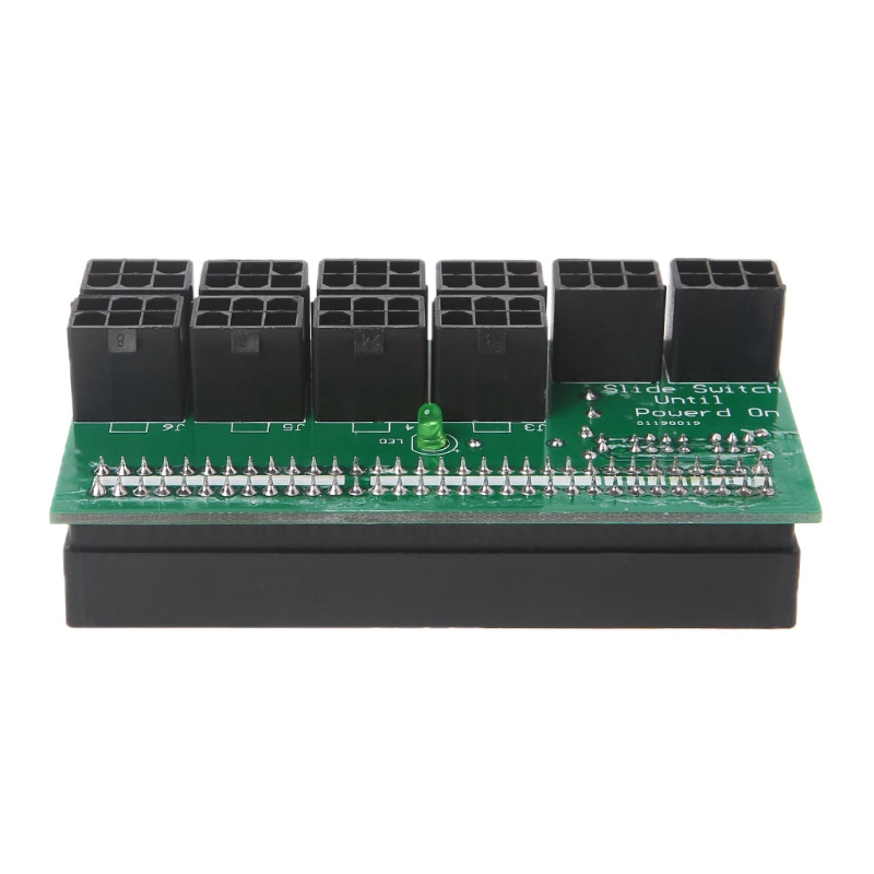 DPS-1200FB//QB Power Supply Breakout Board+10pcs Cable 6pin For Ethereum Mining