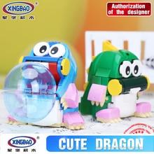 Xingbao 11001 323Pcs New Genuine Creative MOC Series The Cute Dragon Set Children Educational Building Blocks