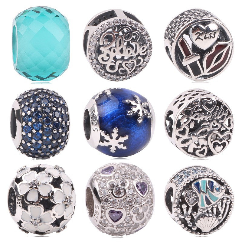 dodocharms New Charm Bead Authentic 925 Sterling Silver Bead Fit Pandora Original Bracelet Women Christmas DIY Jewelry Snowflake