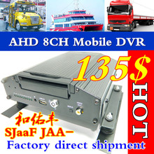 8 road vehicle hard disk video recorder ship / bus monitor host mobile dvr factory 8ch mdvr ahd hdd traffic monitoring host