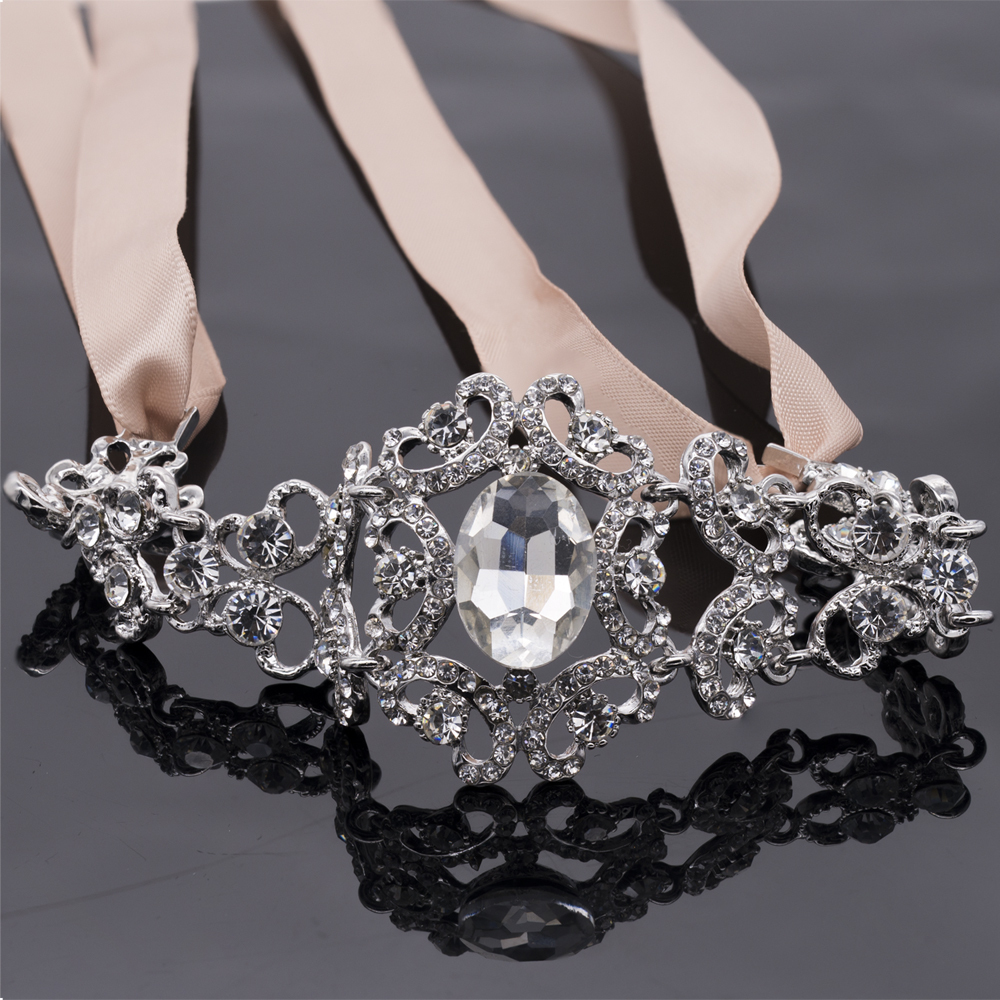 online get cheap bridal hair headband rhinestone crystal