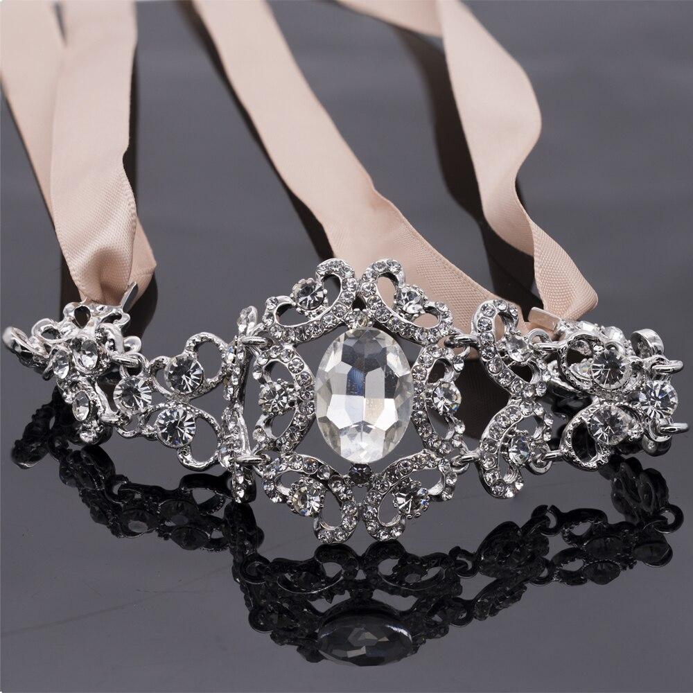 Bridal Hair Jewelry Clear Crystal Rhinestone Headband Women Wedding Hair Accessories E6578B