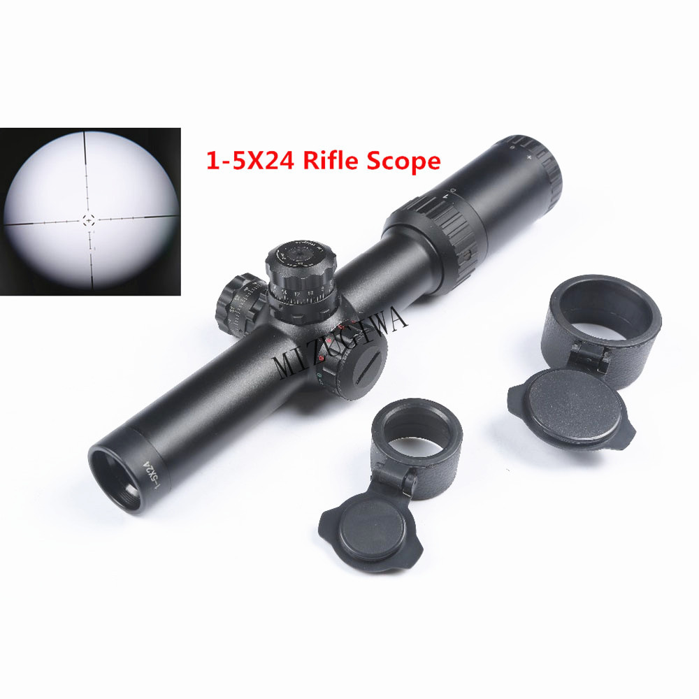 Tactical 1-5X24 SF Rifle Scope Glass Etched Red Green Illuminated Riflescope 30mm Tube Air Rifle Sight Caza Mira Para Optical james blunt milan