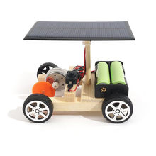 DIY Solar Hybrid Electric Vehicle Car Wooden Assembly with Rechargeable Battery Science Model Educational Toys IQ For Kids Gift(China)