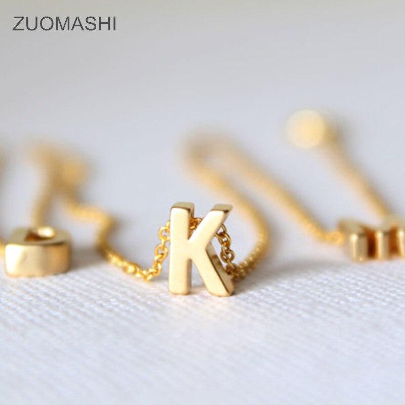 Крошечный золотой Первоначальный Ожерелье Золото письмо ожерелье инициалы имя ожерелья Подвеска для женщин девочек. Лучший подарок на день рождения
