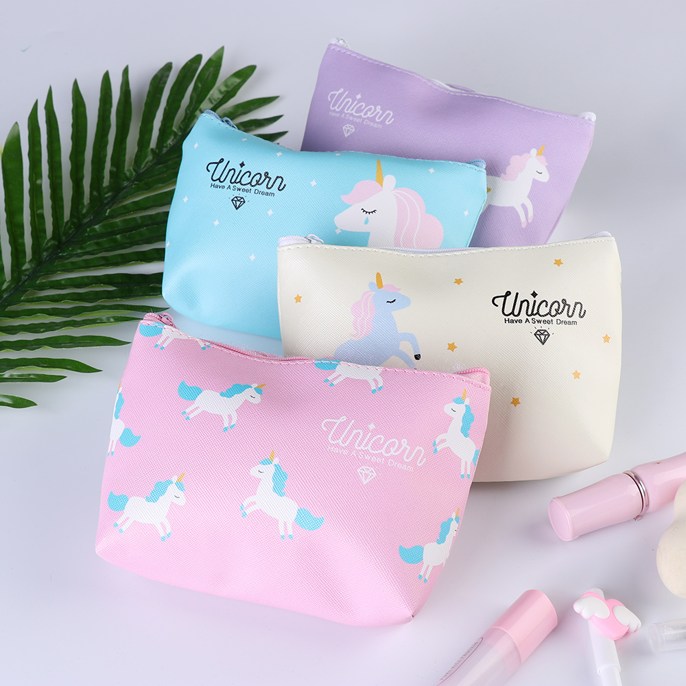 1Pcs 2019 Unicorn Bag For Girls Cosmetic Bag Women Makeup Storage Pouch Travel Bag Holder Multi-function Handbag For Kids Gift