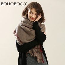 2017 autumn winter new style fashion twill weave plain color lambs wool scarf woolen thick men women warm scarves shawl