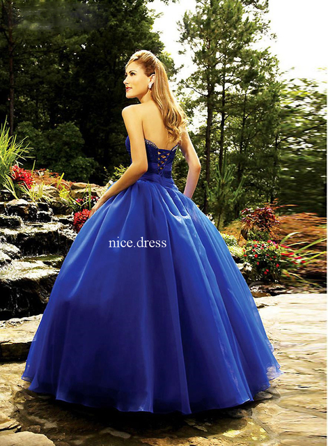 Royal Blue Fashion Elegant Quinceanera Dresses Sweetheart Ruched Beading  Bridal Gowns Organza Tulle LHQ 100 2a057abbf2e7