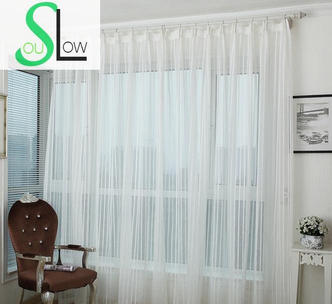 slow soul white beige modern minimalist striped linen curtain french window yarn dyed curtains for living