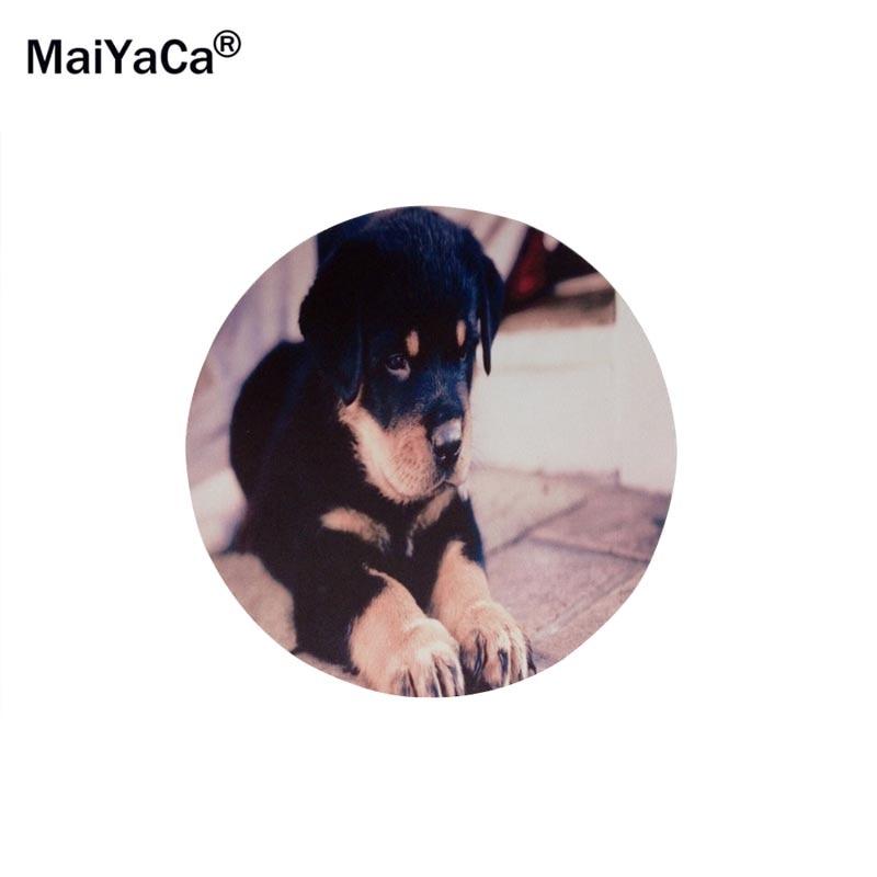 Maiyaca Cute Rottweiler Puppy Cute Dog Round 2002002mm Mouse Pad