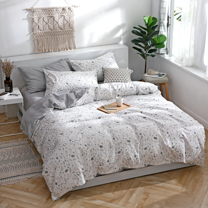 Stylish Rural Style Small Print Bedding Set 3/4pcs Bed Linen Duvet Cover Kids Adult Brief Style Princess Home Textile BedclothesStylish Rural Style Small Print Bedding Set 3/4pcs Bed Linen Duvet Cover Kids Adult Brief Style Princess Home Textile Bedclothes