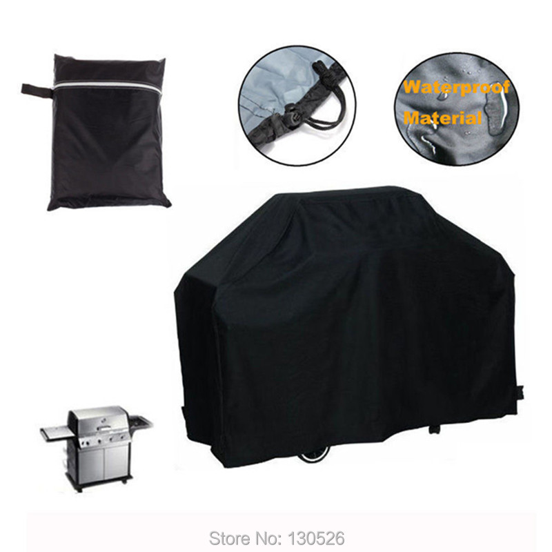 Black Waterproof BBQ Covers Outdoor Garden Patio Barbeque Grill Storage Protector Cooking Accessories Tools