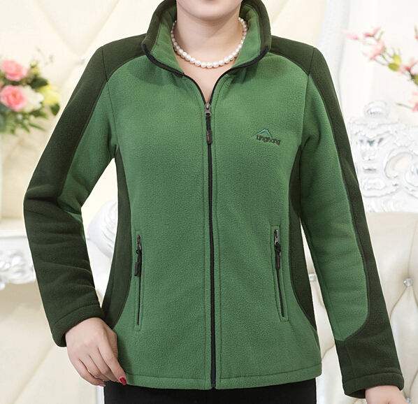 Polar Fleece Jacket Womens 2017 New Fashion Contrast Color Ladies ...