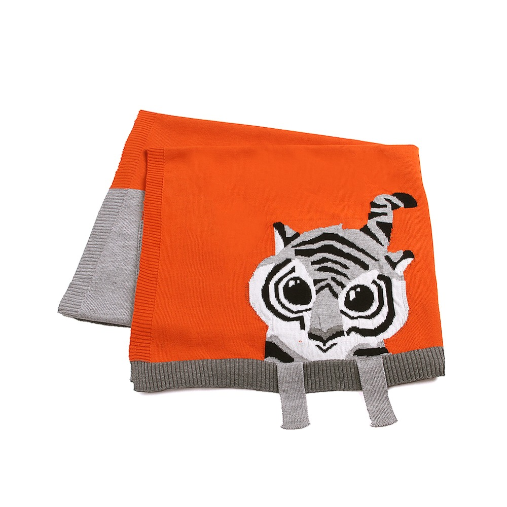 Air Conditioning Blankets For Newborns Swaddle Wrap 3D Tiger Knit Children Boys Throwing Quilts Soft Toddler Girls Bedding Cover