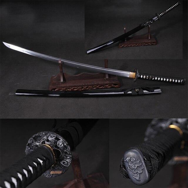 Japonais Épée Pliant Forge Pliant Samurai Acier Katana Alliage