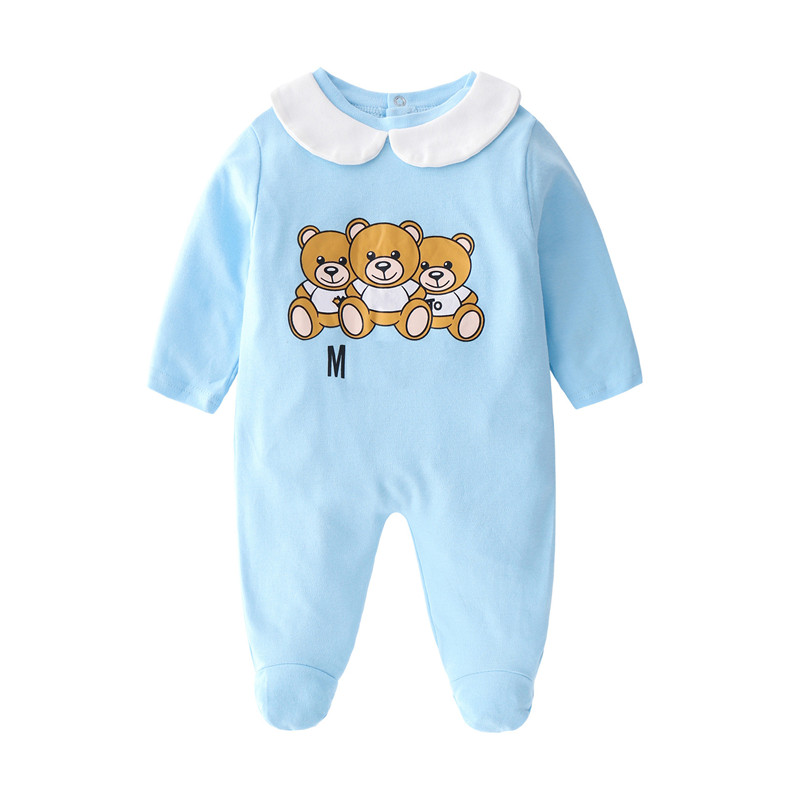 Latest Product  2019 New Newborn Jumpsuits Baby Boy Girl Romper Clothes Long Sleeve Infant Product Baby Rompers Hat