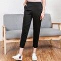 Nova marca de moda de todos os jogos calças lixar Mujeres legal skinny casual Solto Magro preto arco calças lápis impressão mulheres verão