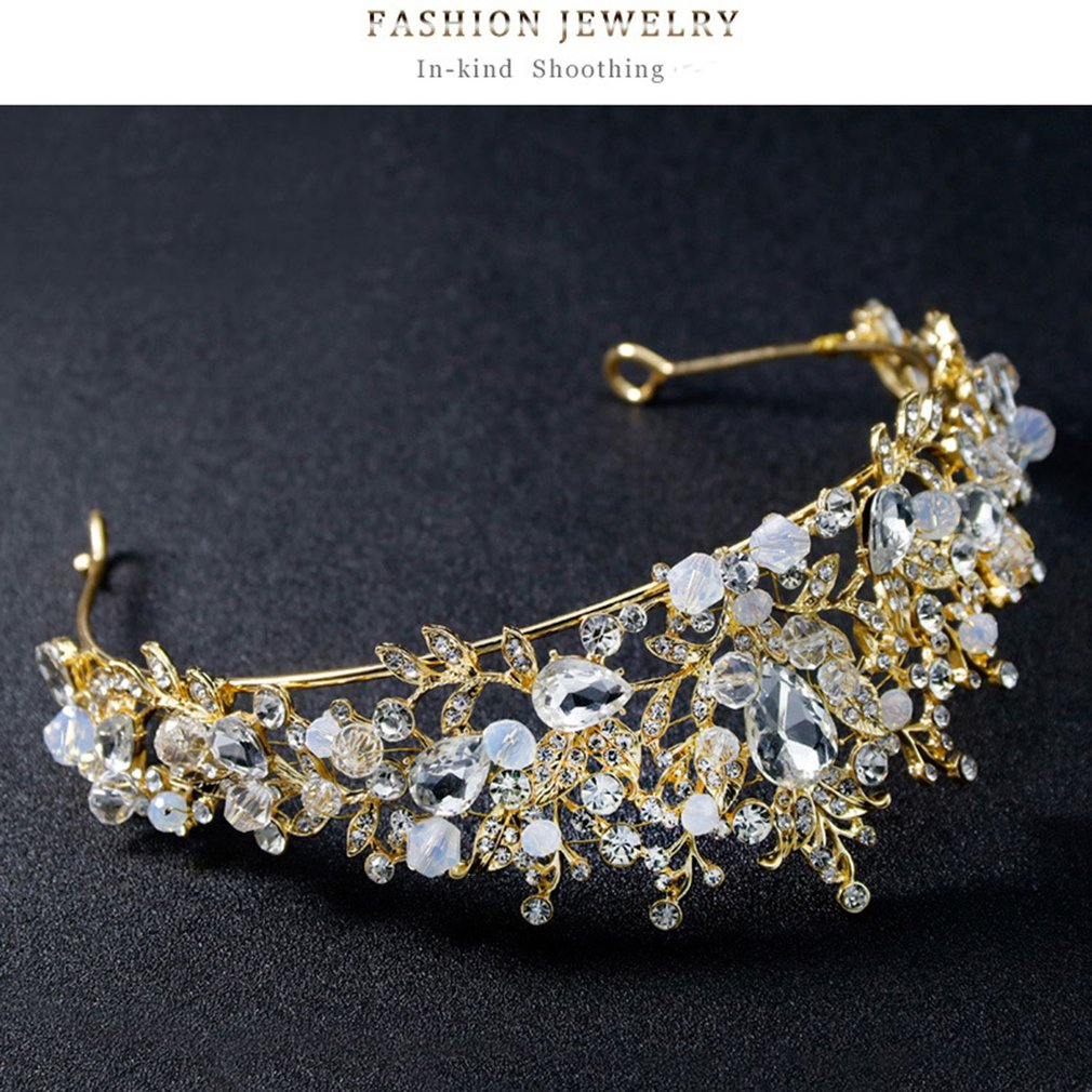 vintage tiara crown rhinestone