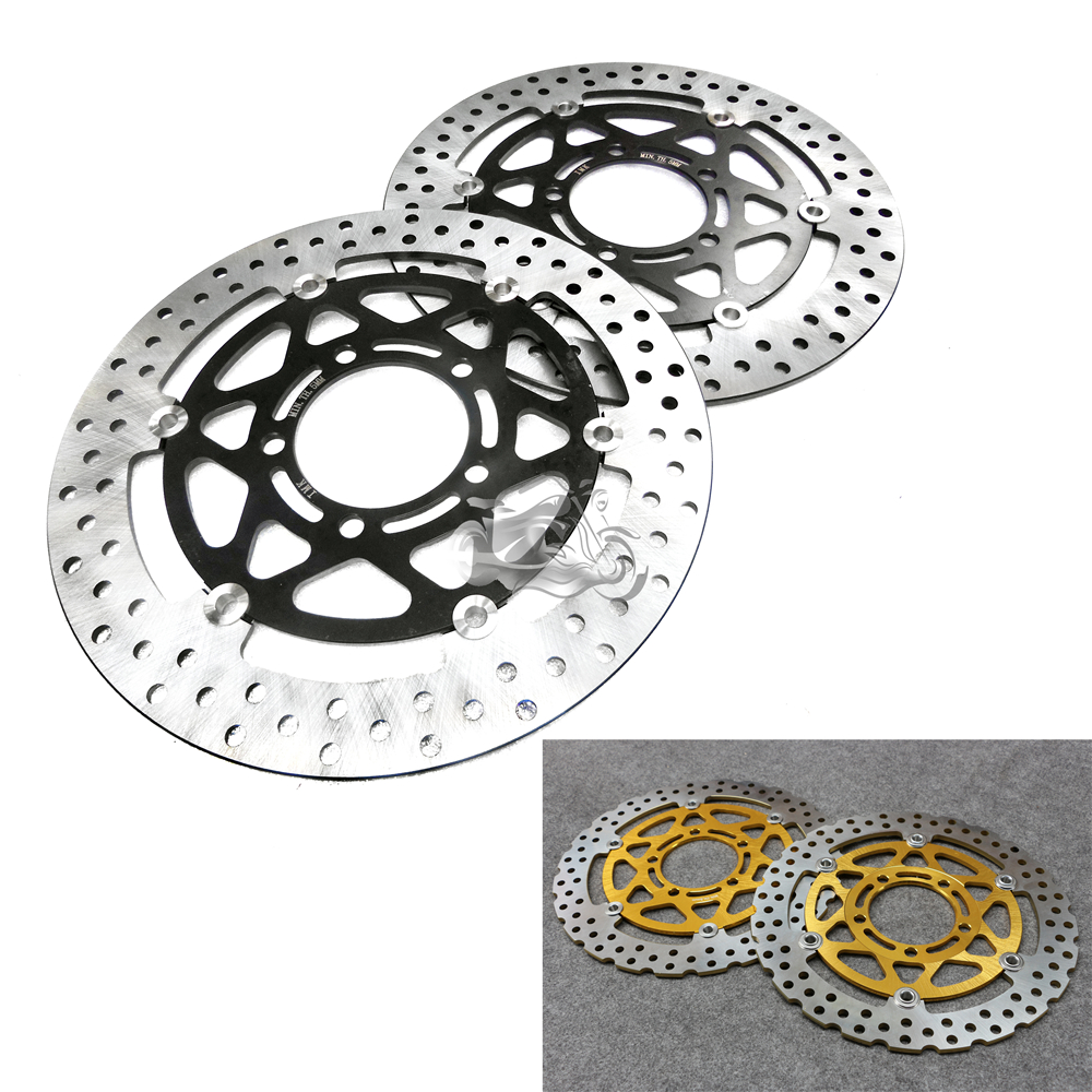 Floating Front Brake Disc Rotor For Motorcycle Kawasaki Ninja ZX-6R 636cc EX650R Z1000 ZX10R NEW keoghs real adelin 260mm floating brake disc high quality for yamaha scooter cygnus modify