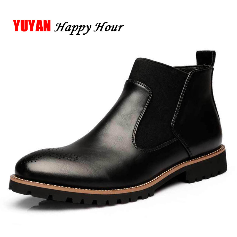 Marque Black Bottes Winter Mâle Hiver Winter Red Peluche 2018 brown Chaud brown Autumn Hommes Autumn Automne black Zhk196 Chelsea Véritable Cuir wine Chaussures wine Autumn De En Winter Botas Cheville n8xq74PTwx