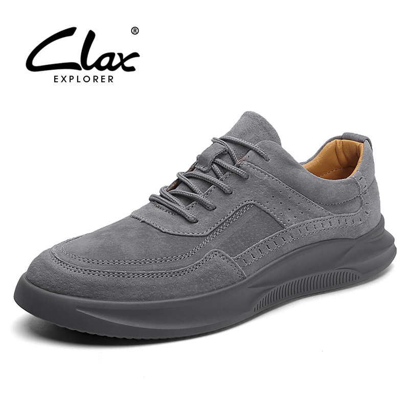 CLAX Mens Shoes 2019 Spring Summer Male Sneakers   Leather   Fashion Man's Casual Shoe Leisure Walking Footwear Soft Comfortable