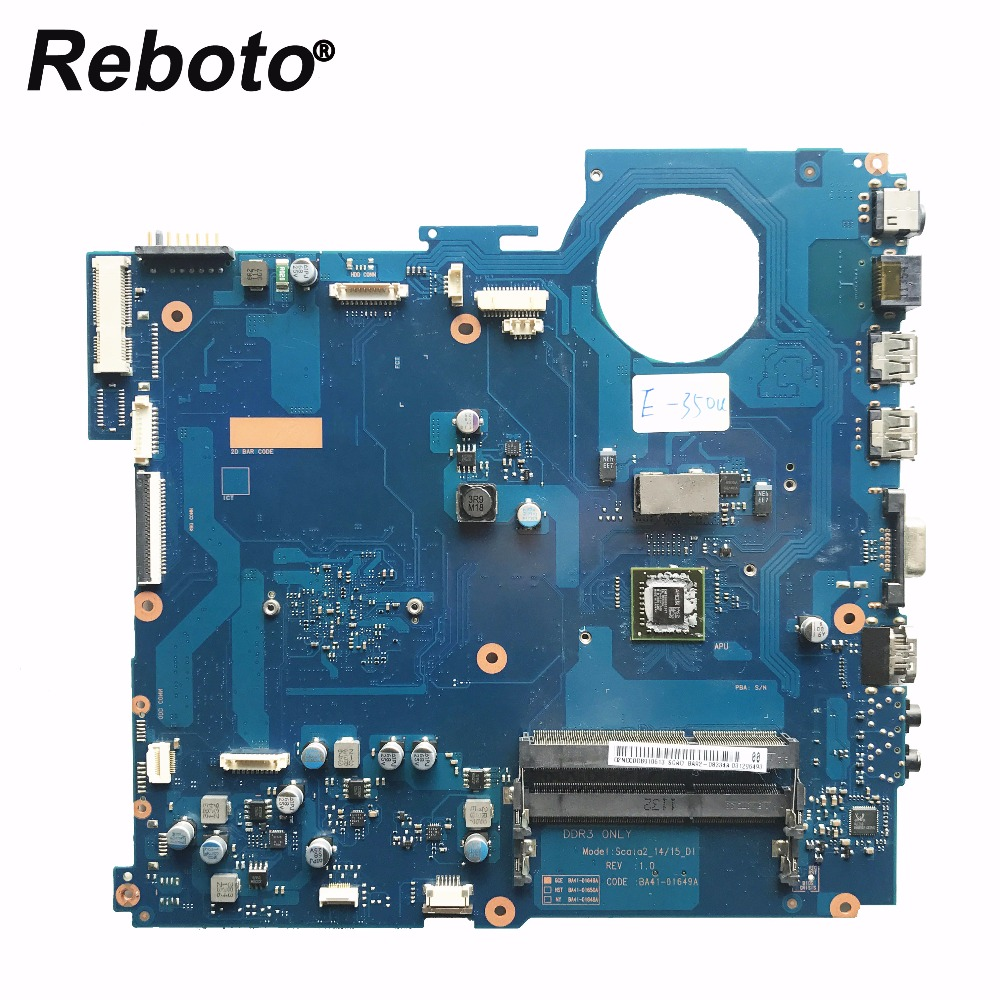 Reboto For Samsung RV515 Laptop Motherboard BA41 01649A BA92 08334A BA92 08334B With E350 CPU Mainboard