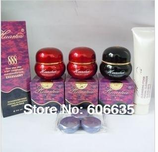Hua MA 888 manchas eliminación / crema de la peca 3 en 1 + Cle cara + muestra