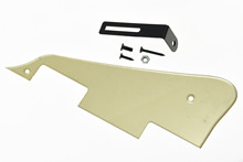 GOLD Mirror LP Guitar Pickguard Scratch Plate with Black Bracket