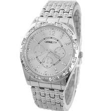 Фотография 2017 latest silver watches Luxury Men Diamond Metal Band Analog Quartz Fashion Wrist Watch Reloj para los hombres