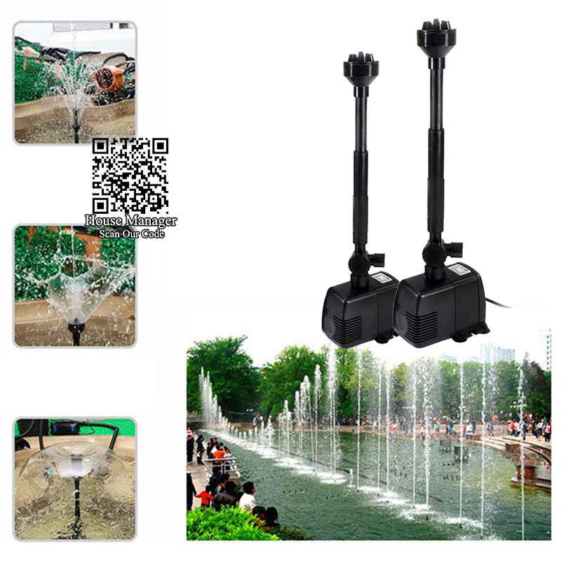 8/16/22/28/40W Adjustable Fountain Pump, Water Blow Fountain Water Pump For Pool Pond Garden Fish Tank Aquarium, Filter Sponges