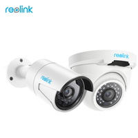 Reolink IP Camera Outdoor HD 4MP PoE Infrarood Bullet Dome 2-Pack Beveiliging P2P Onvif Nightvision Cam RLC-4120