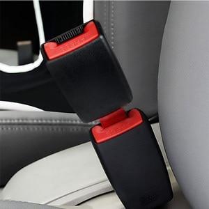Image 3 - 1 Pcs 21mm Car Socket Seat Belt Clip Extender for Audi A3 A4 B6 B8 Audio A6 C6 8P C5 B7 A5 Q7 Q5 B5 Mitsubishi Outlander Lancer