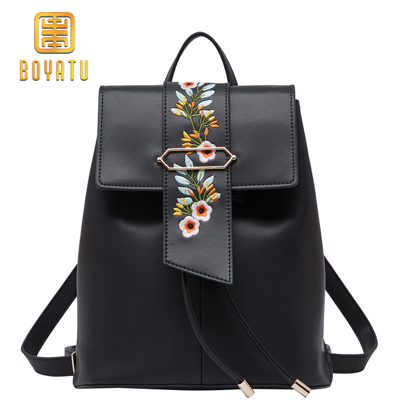 Genuine Leather Backpack Women Fashion School Backpack For Girl Flower Shoulder Bag Female new korea fashion genuine leather bag women backpack leather school backpack female women travel backpack for girl free shipping