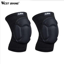 WEST BIKING Two Pieces Kneepad Goalkeeper Soccer Football Volleyball Sponge Sports knee pads Protect Cycling Knee Pads