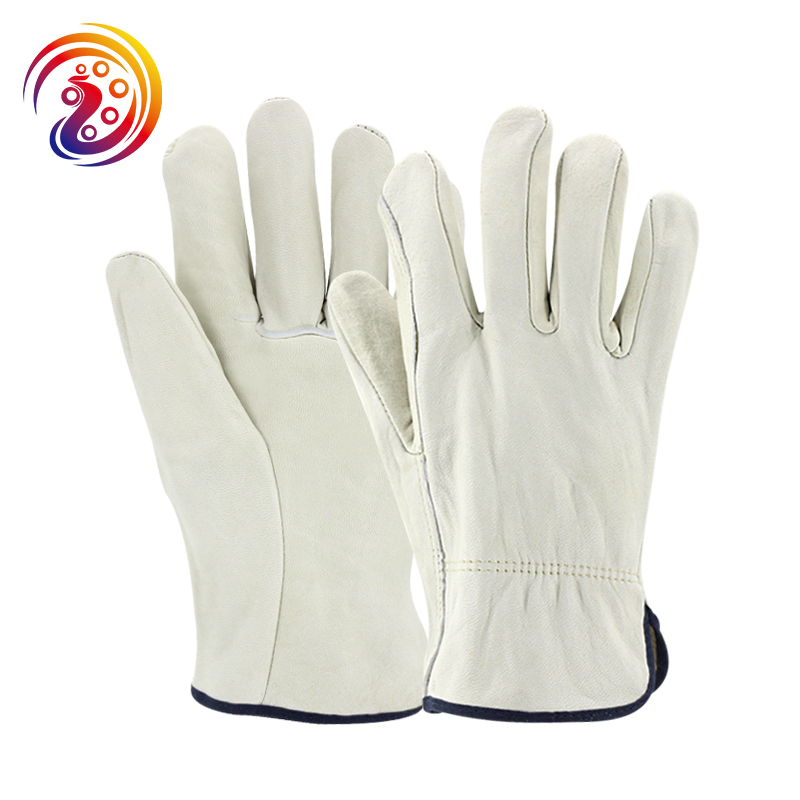 цена на OLSON DEEPAK Sheepskin Leather Work Gloves Factory Driver Gardening Industry Cape Gloves HY004