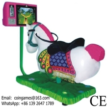 Hot Sale ! Coin Operated Video Horse Kiddie Rides Game Machine