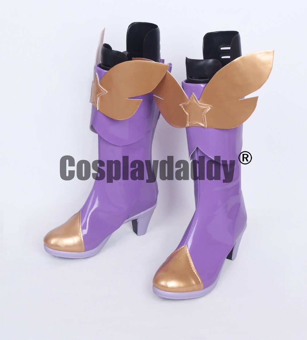 LOL Lux the Lady of Luminosity Purple Girls Cosplay Shoes Boots S008