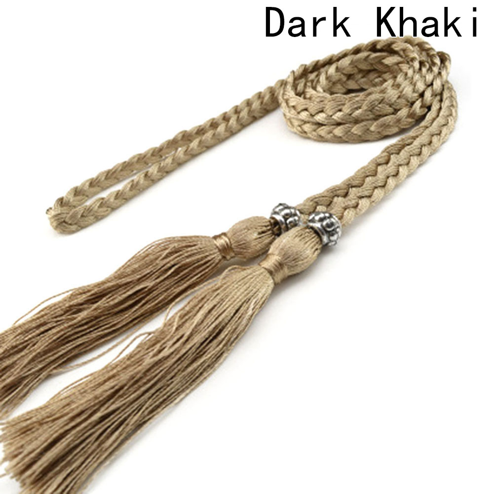 1 piece!!! Unique Exquisite Fashion Accessories new Style tassel knotted belts Braided Fringed Belt for Women