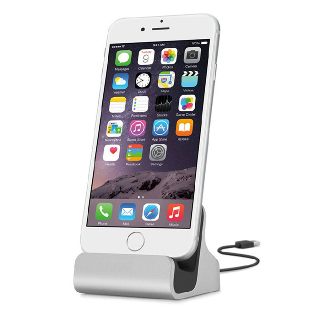 For IPhone X 8 7 6 USB Cable Sync Cradle Charger Base For