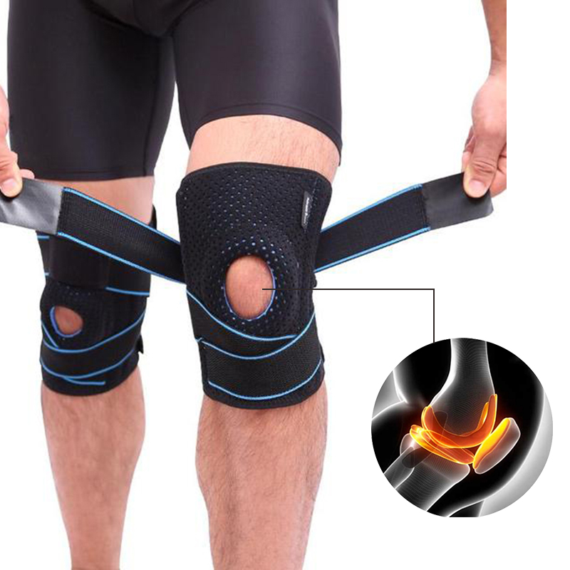CFR knee brace 3D weaving basketball tennis hiking cycling pressurization knee support professional protective sports knee pads