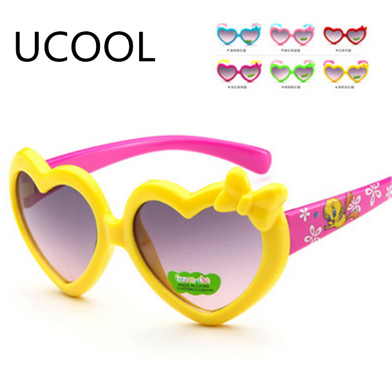 UCOOL High Quality Cat Eye Heart-shaped Sunglasses Baby Glasses Goggles Boys Gilrs Women Sunglass Oculos De Sol Feminino