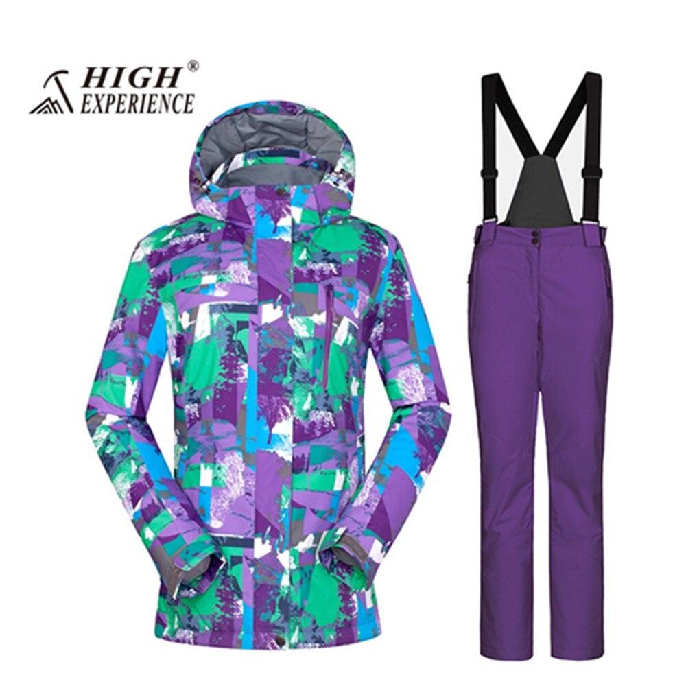 Nouveau 2018 wintersport ski de montagne costume pour femme ski costume femmes femme chaud snowboard vestes neige pantalon veste ski femme - 6