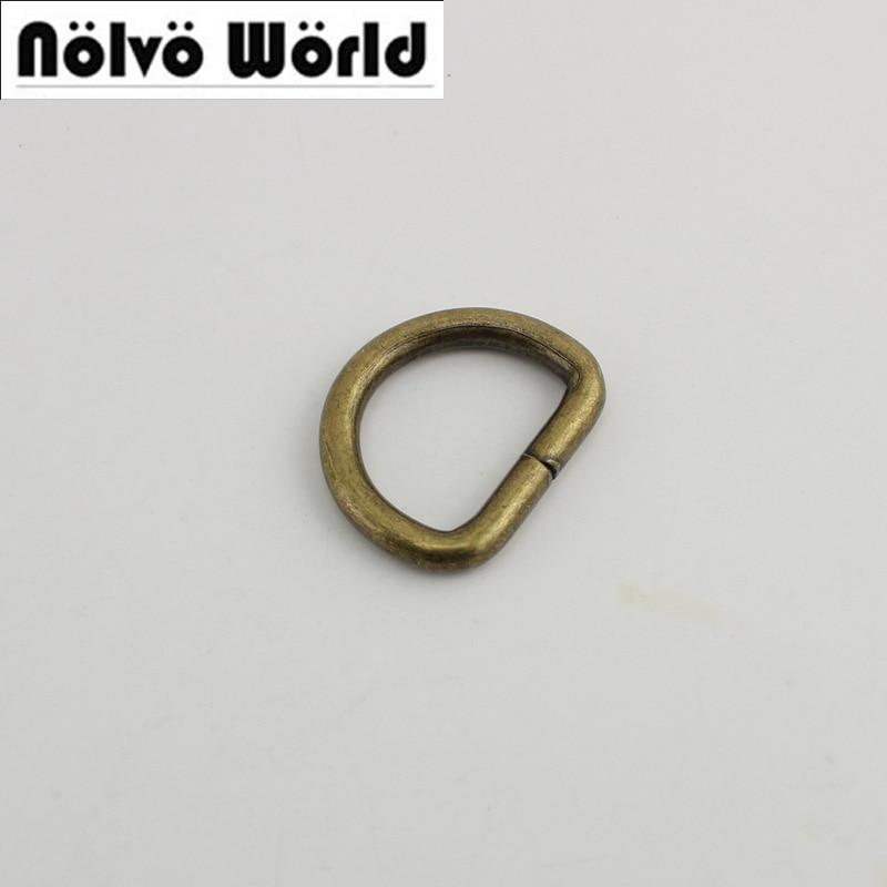 100pcs 26mm Bronze Old Silver 5.0mm Metal D Ring Diy Bags Strap Hardware Online Wholesale Shop Cheap Belt Buckle 50pcs